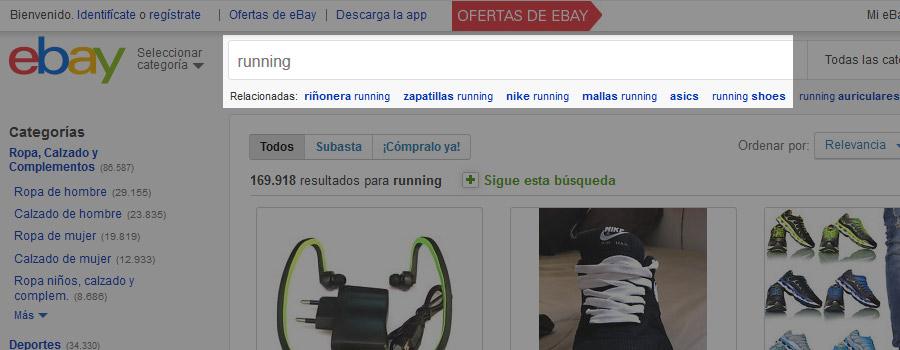 Buscador interno Ebay.es
