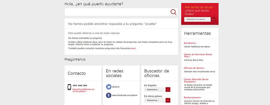 Buscador interno Iberia