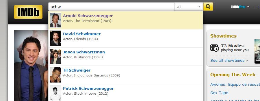 Buscador interno IMDB.com